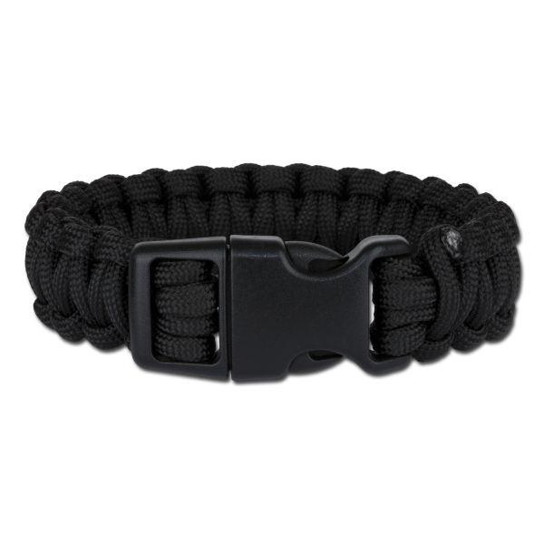 Survival Paracord Bracelet wide black