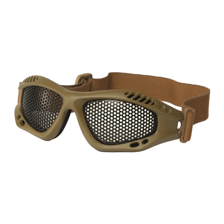 Airsoft Glasses Metal Mesh Lenses coyote