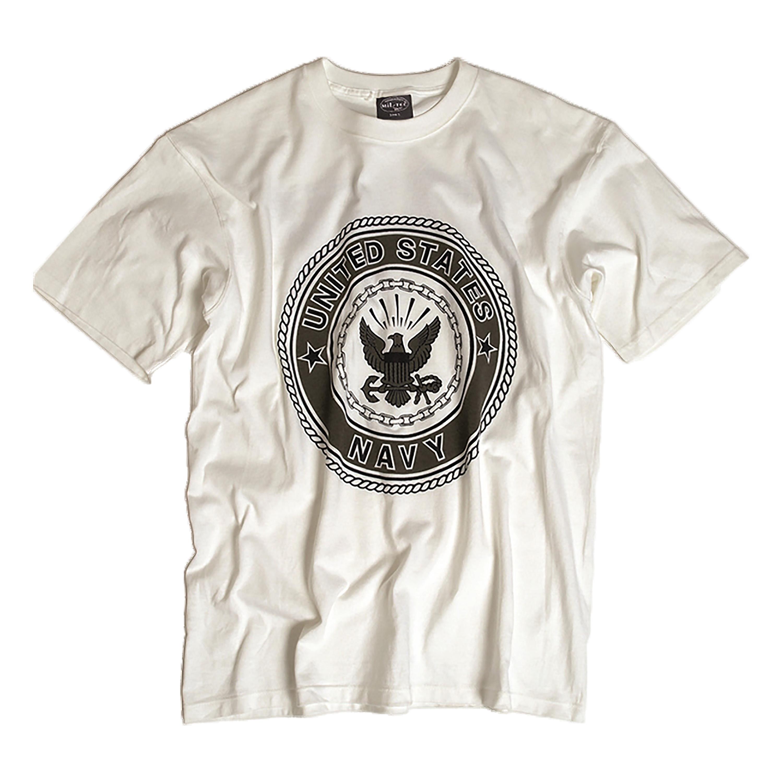 US T-Shirt Navy white