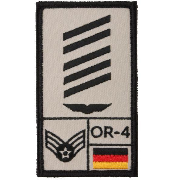Café Viereck Rank Patch OSG German Luftwaffe sand