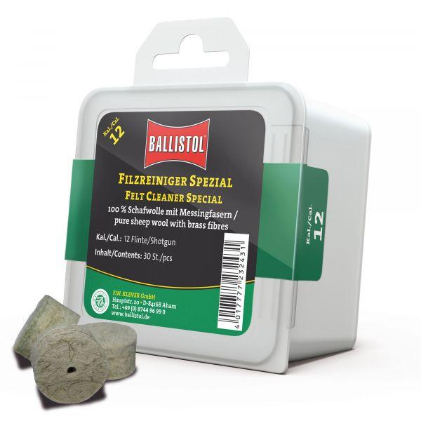 Ballistol Felt Cleaner Classic Cal 12 Gauge 30 Pieces