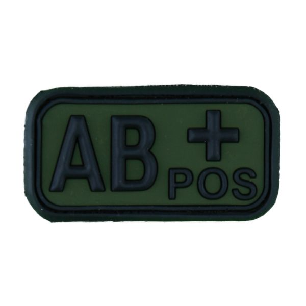 TAP 3D Blood Type Patch Rubber AB Pos forest