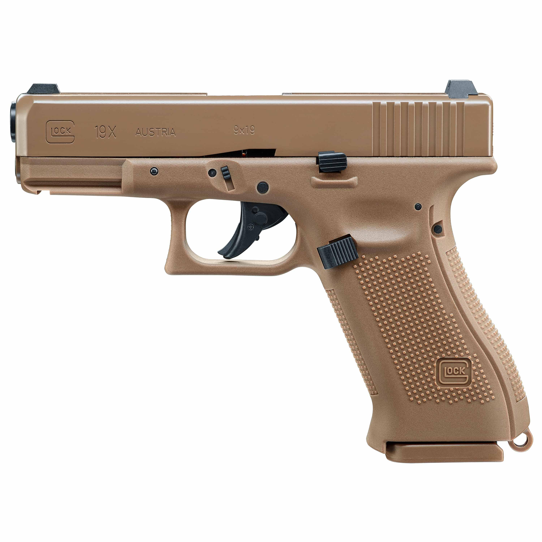 Glock Air Pistol Glock 19X 2.0 J Co2 Blowback fde