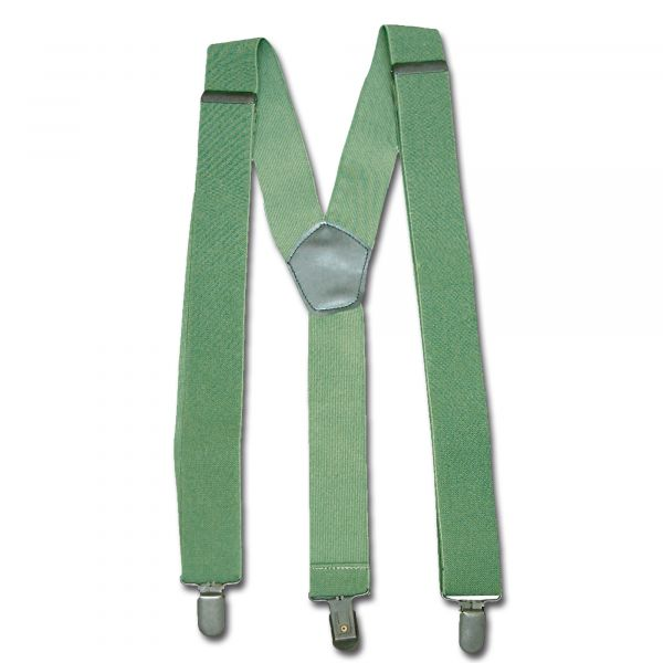 Suspenders with Clips olive