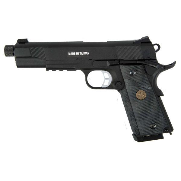 KJ Works Airsoft Pistol M1911 MEU TBC Full Metal GBB black