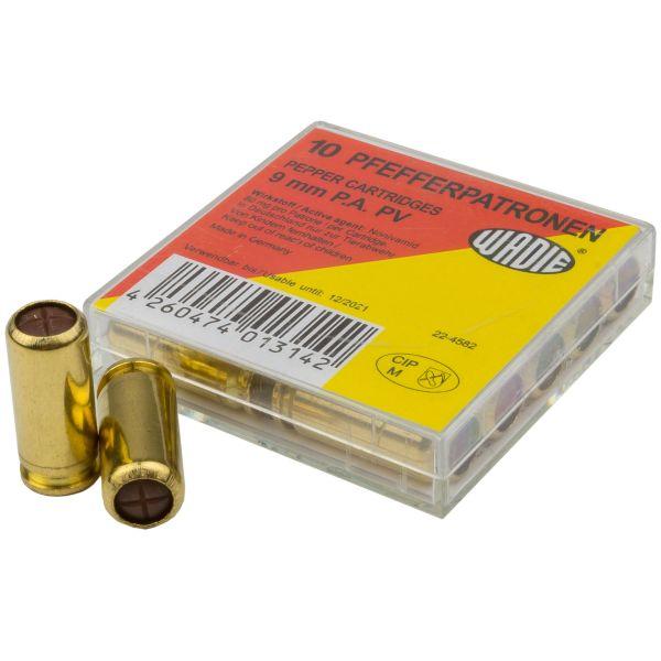 Wadie PV Pepper Cartridges 9 mm Pistol 10-Pack