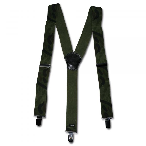 Suspenders with Clips woodland