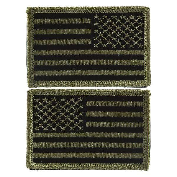 Insignia U.S. Flag Velcro olive