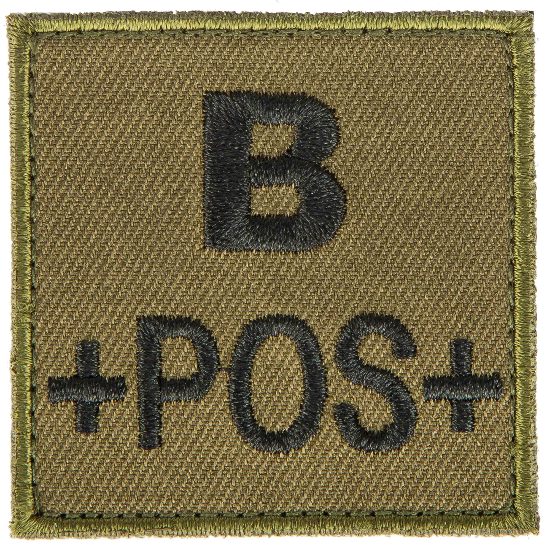 T.O.E Blood Group Patch B Pos. green