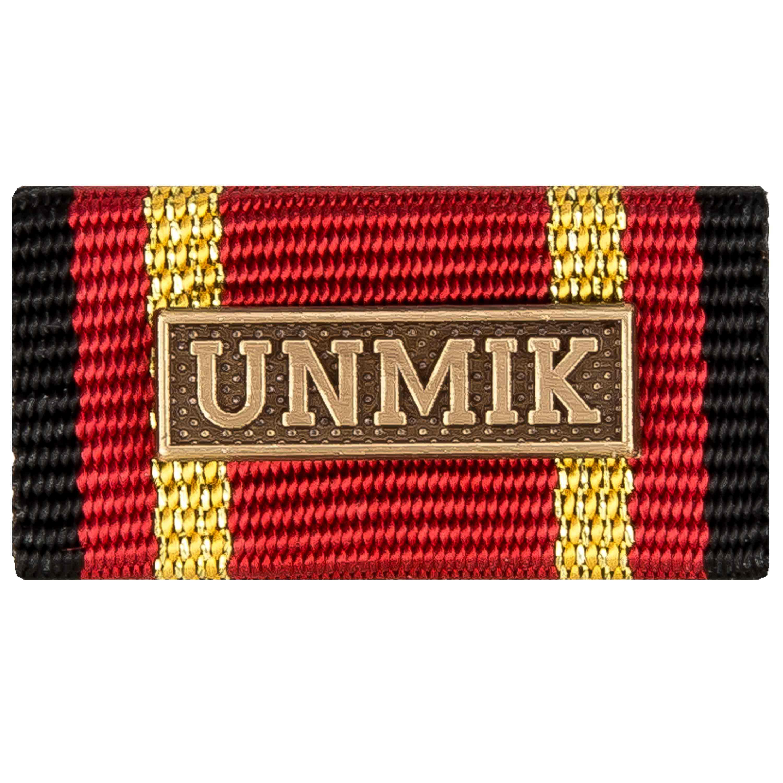 Ordensspange Auslandseinsatz UNMIK bronze