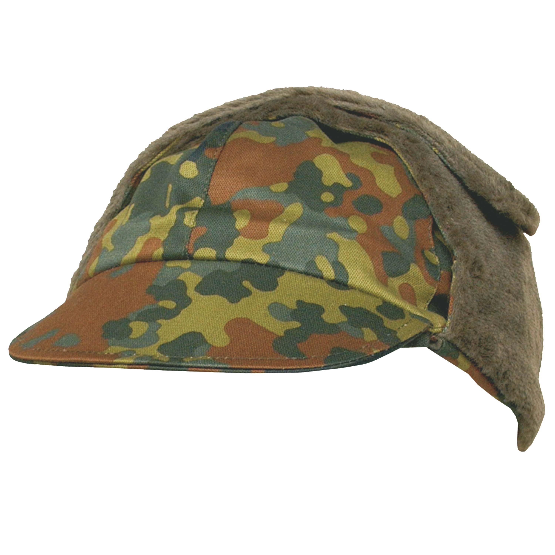 German Army Winter Pile Cap flecktarn