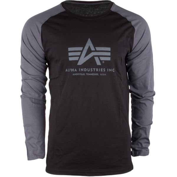 Alpha Industries Long Arm Shirt Basic black/gray