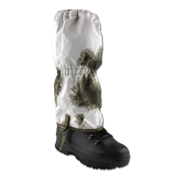 Wet Weather Gaiters with Steel Cable BW snow camo