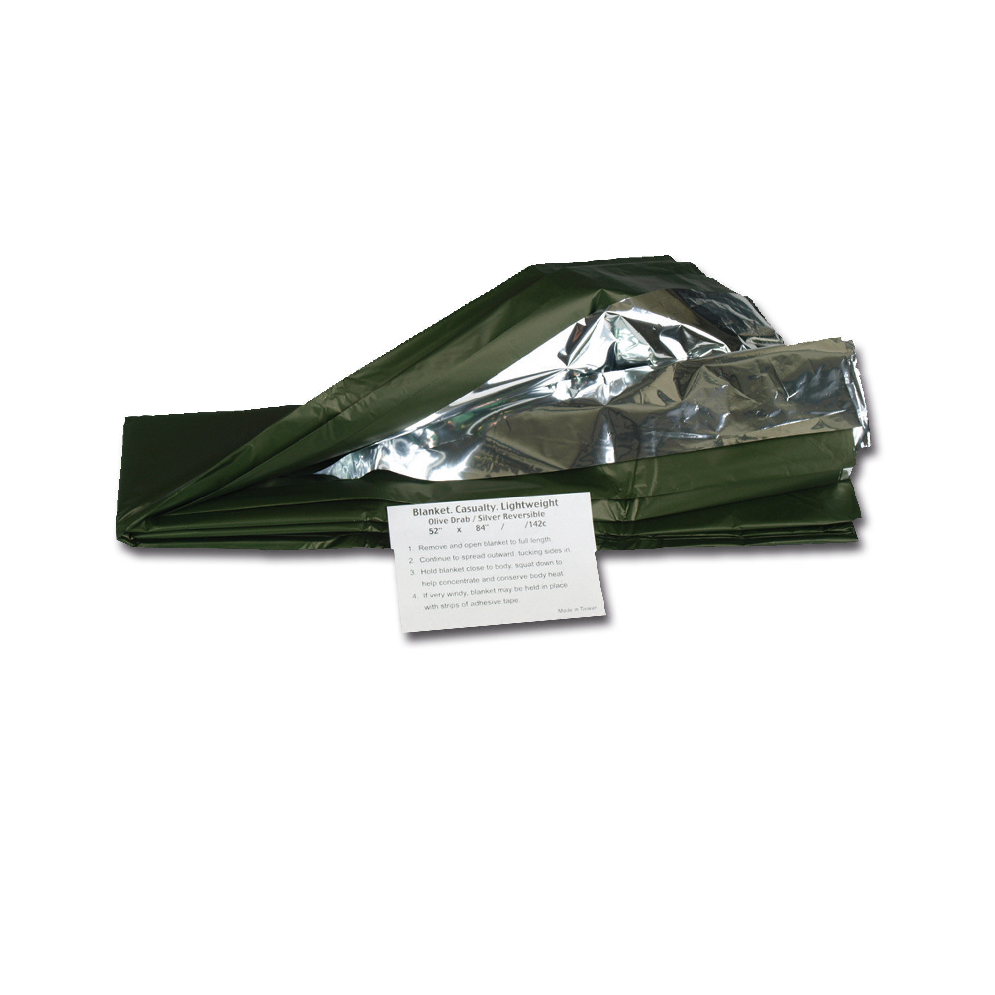 Emergency Blanket silver/olive