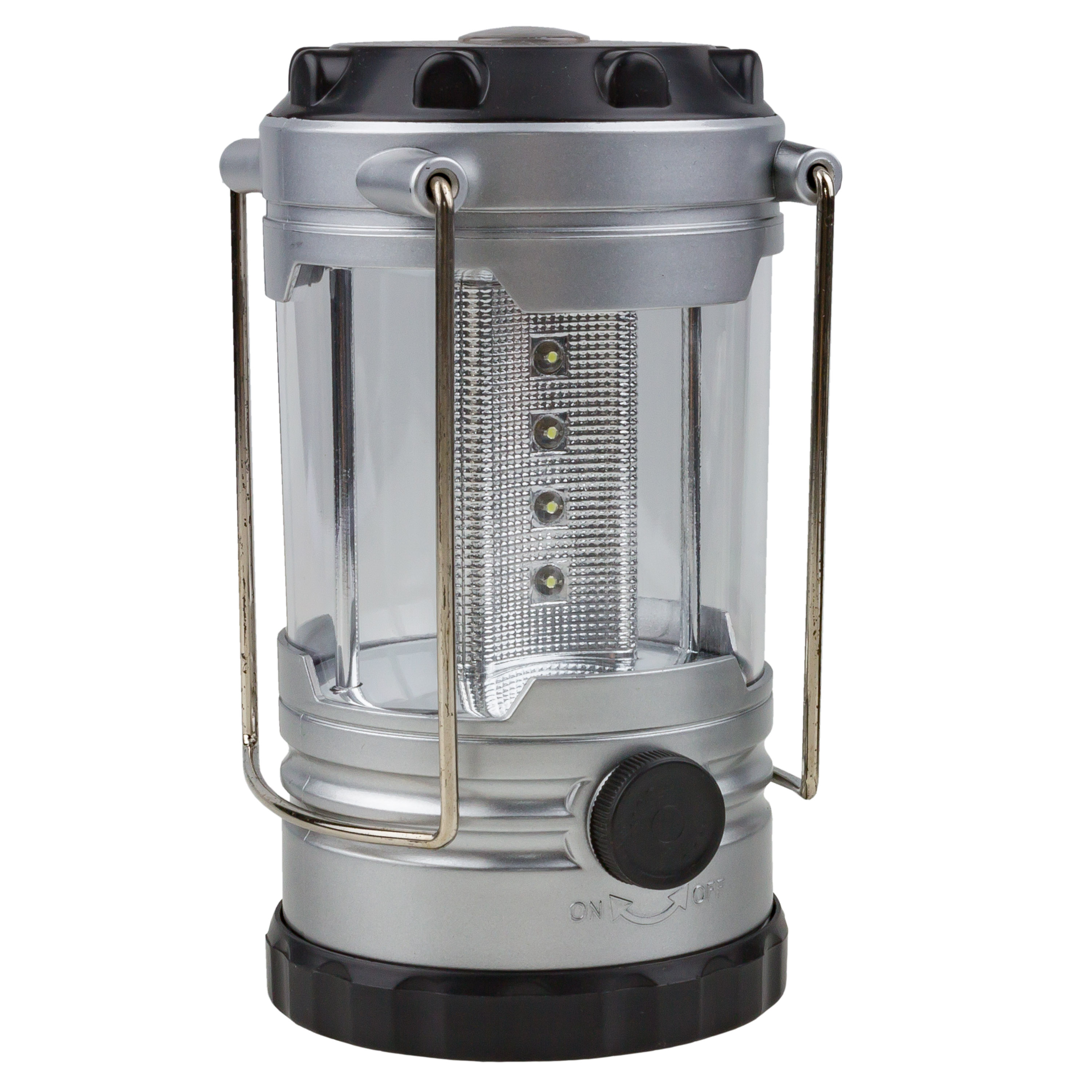 Camping Lantern with Compass silver