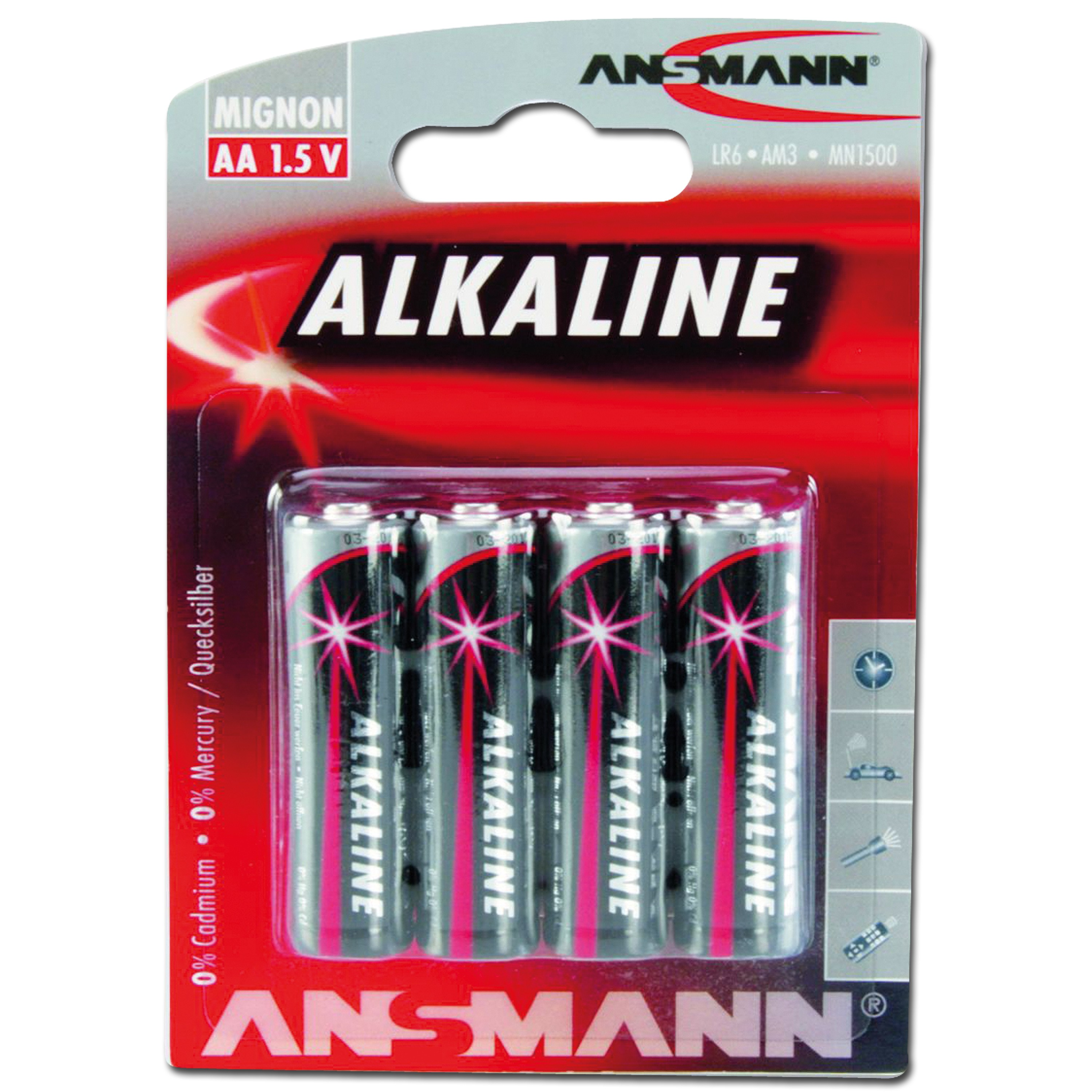 Battery Ansmann Mignon AA Red-Line 4-pack