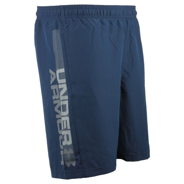 Under Armour Shorts Woven Graphic Wordmark blue