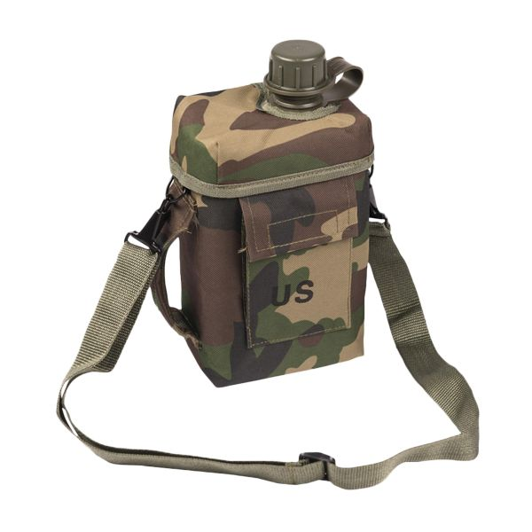Patrol Canteen 2l with Pouch woodland