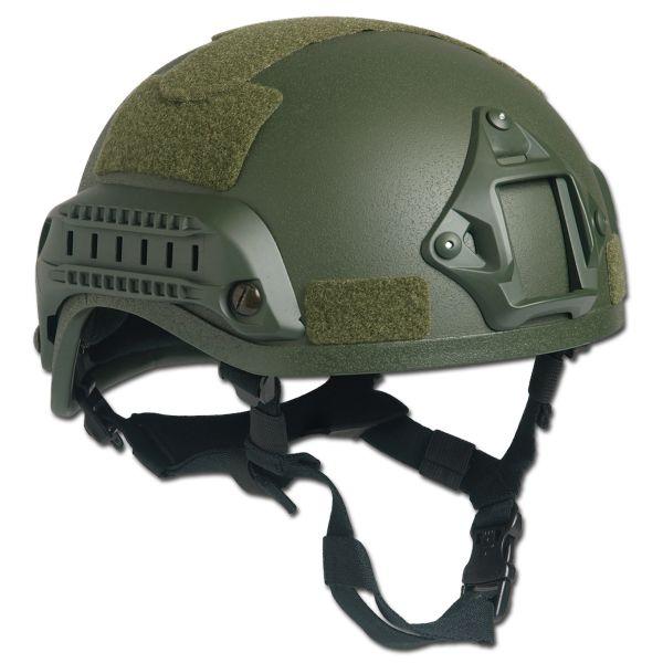 Combat Helmet MICH 2001 NVG Mount+Siderail olive