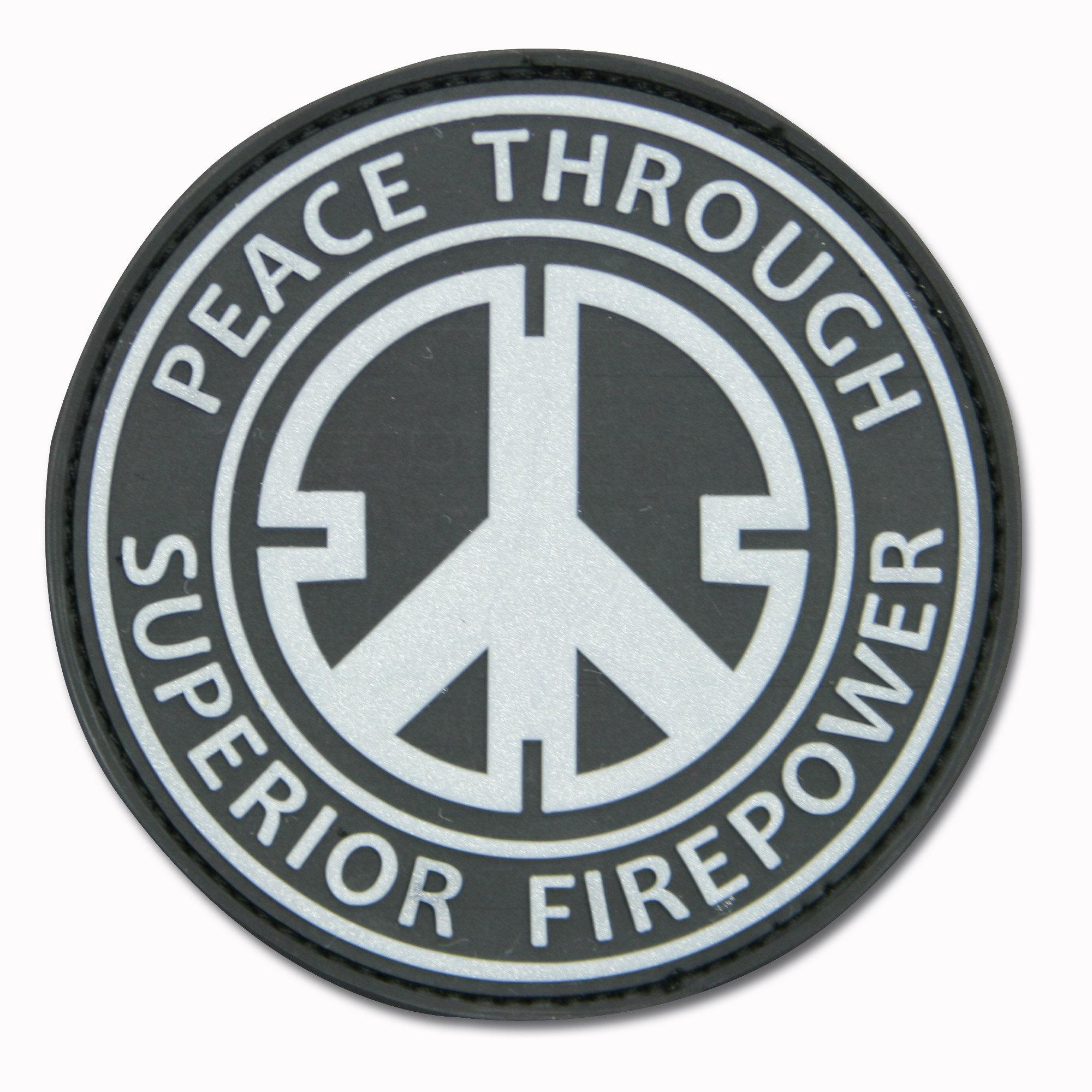 3D-Patch Peace Through Superior Firepower black