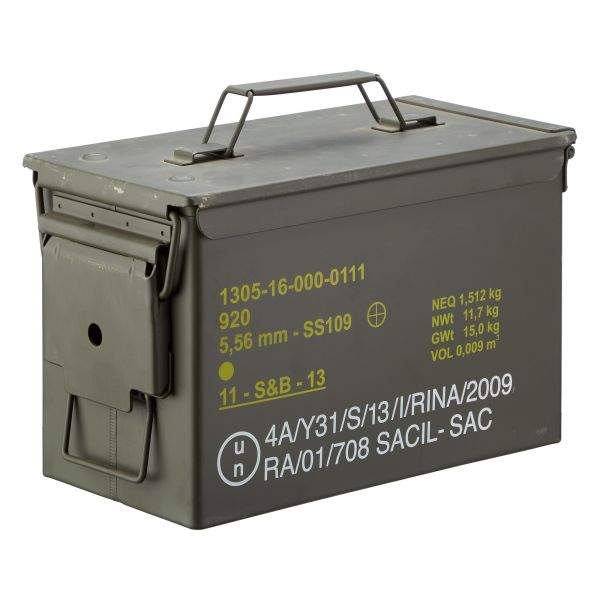 Used US Ammunition Box Medium Cal. .50 / 5,56