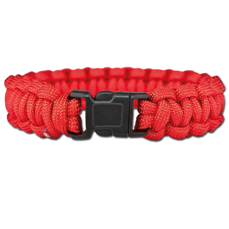 Survival Paracord Bracelet red