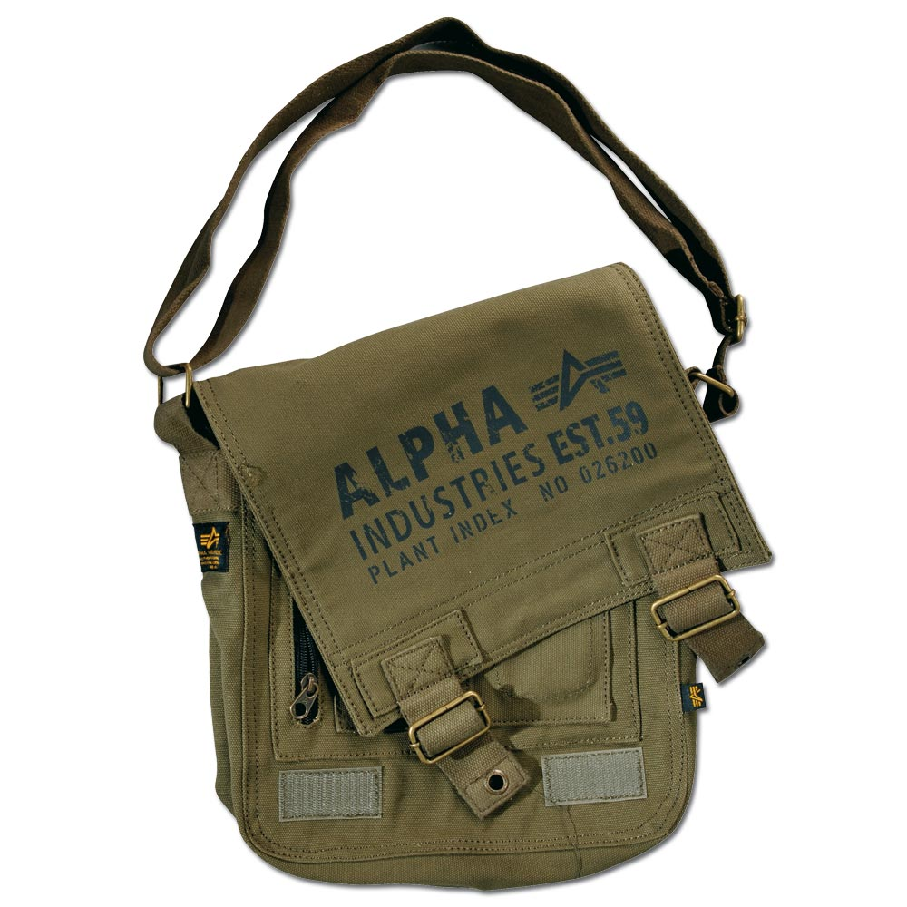Alpha Industries Cargo Canvas Utility Bag olive