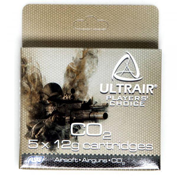 ASG Co2 Cartridges Ultrair 12 g Co2 Cartridge 5 Pieces