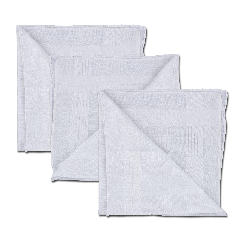 Handkerchief 40 x 40 cm 3 Pack white