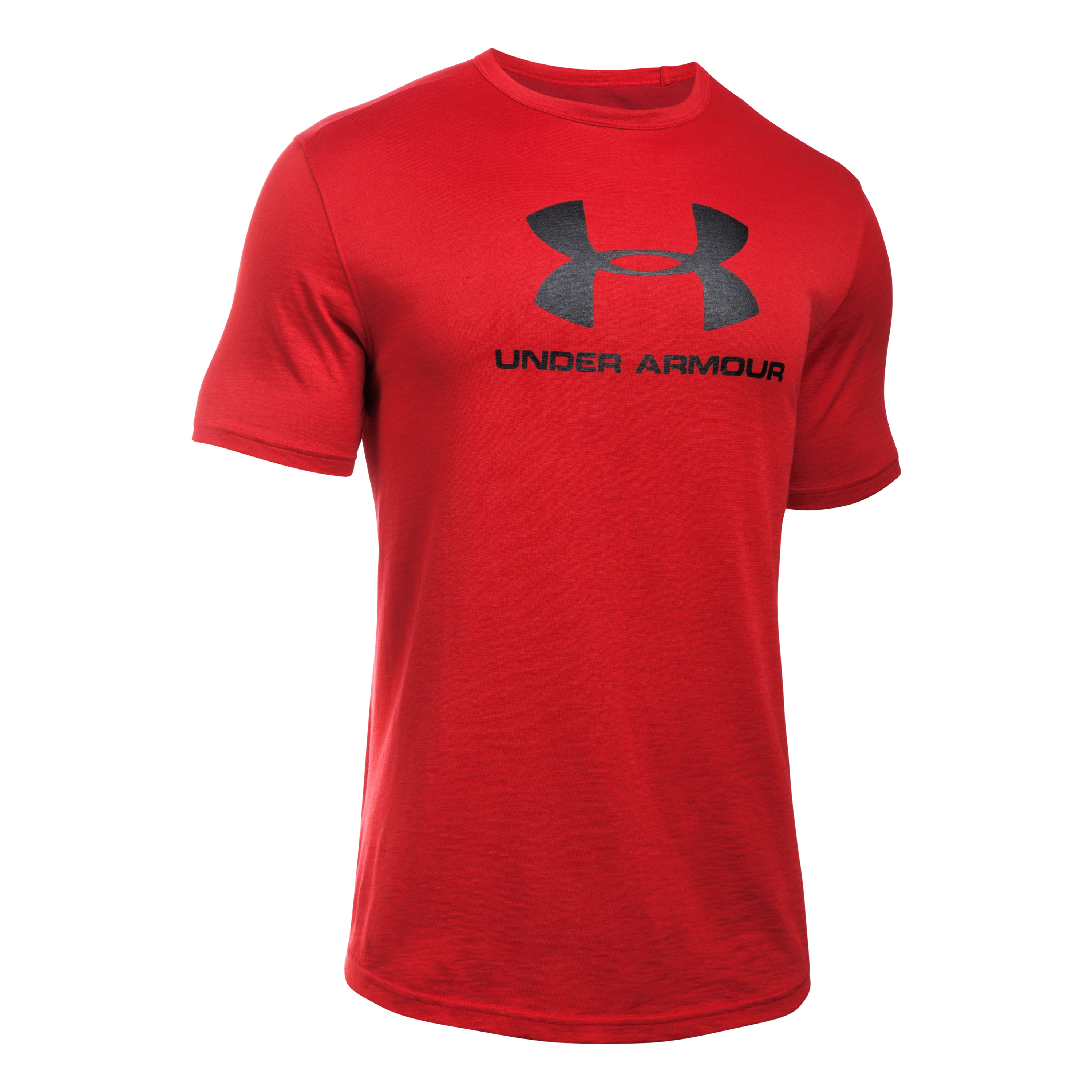 Under Armour Fitness T-Shirt Sport Style Branded Tee red