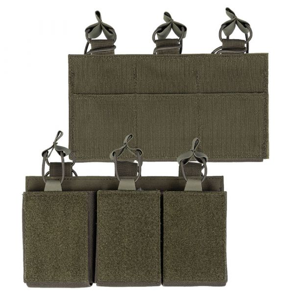 Mil-Tec Magazine Pouch Triple with Velcro Back olive