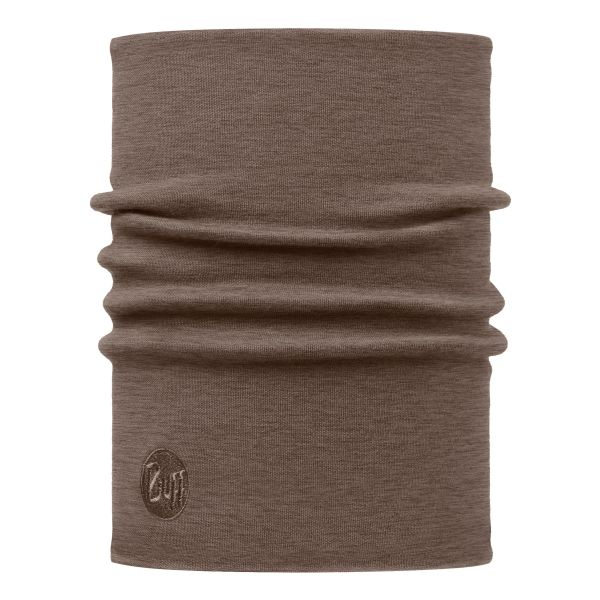Buff Tube Scarf Merino Thermal solid walnut brown