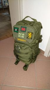 Rucksack mit Tagesgepäck