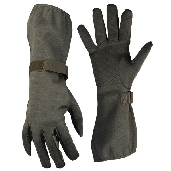 Nomex Pilots Gloves with Gripper BW TL olive Like New