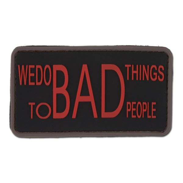 3D-Patch We do bad things to bad people black medic