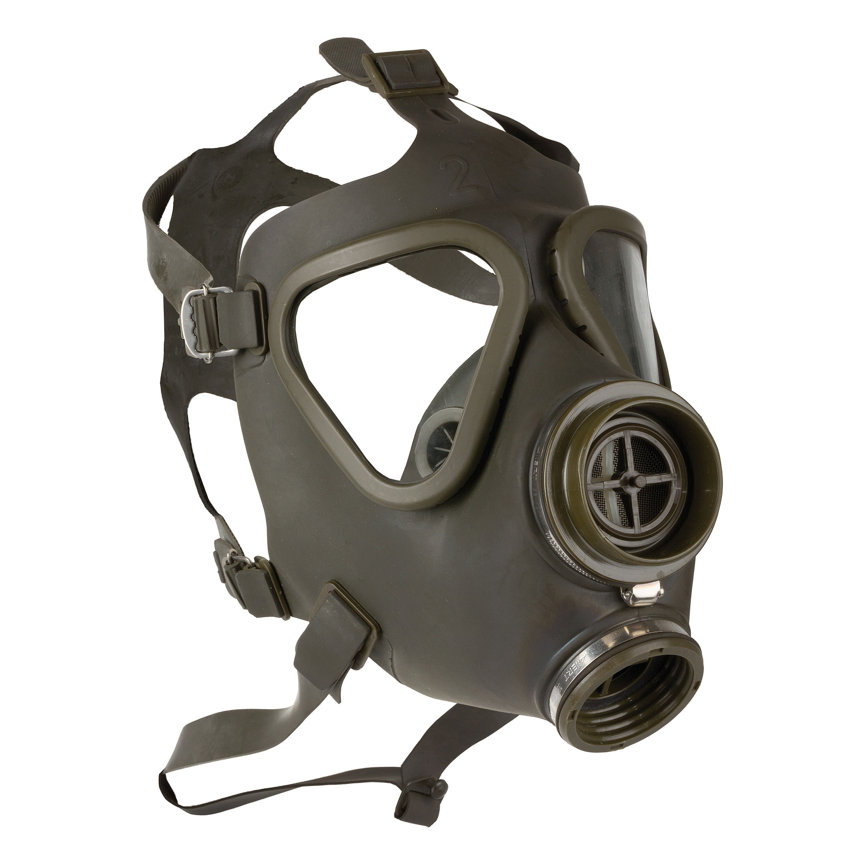 BW Gas Mask without Filter Used