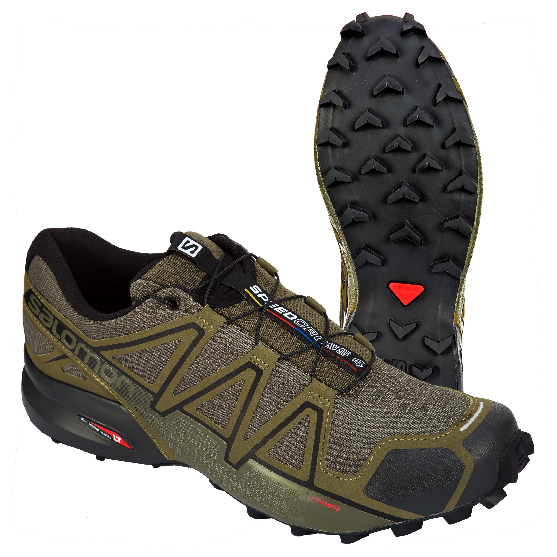 Salomon Shoes Speedcross 4 Wide olive/black
