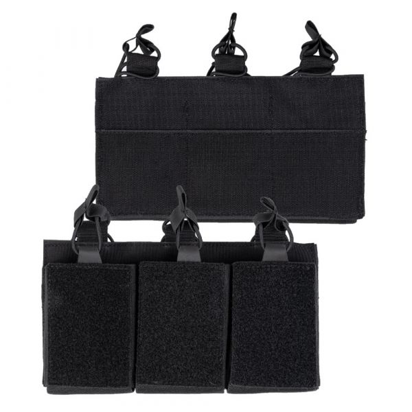 Mil-Tec Magazine Pouch Triple with Velcro Back black