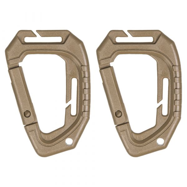 Tactical Carabiner Molle 2-Pack coyote