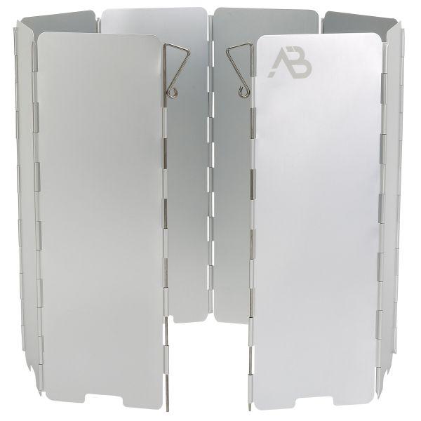 AB Folding Gas Stove Wind Protection Aluminum 8 Slats silver