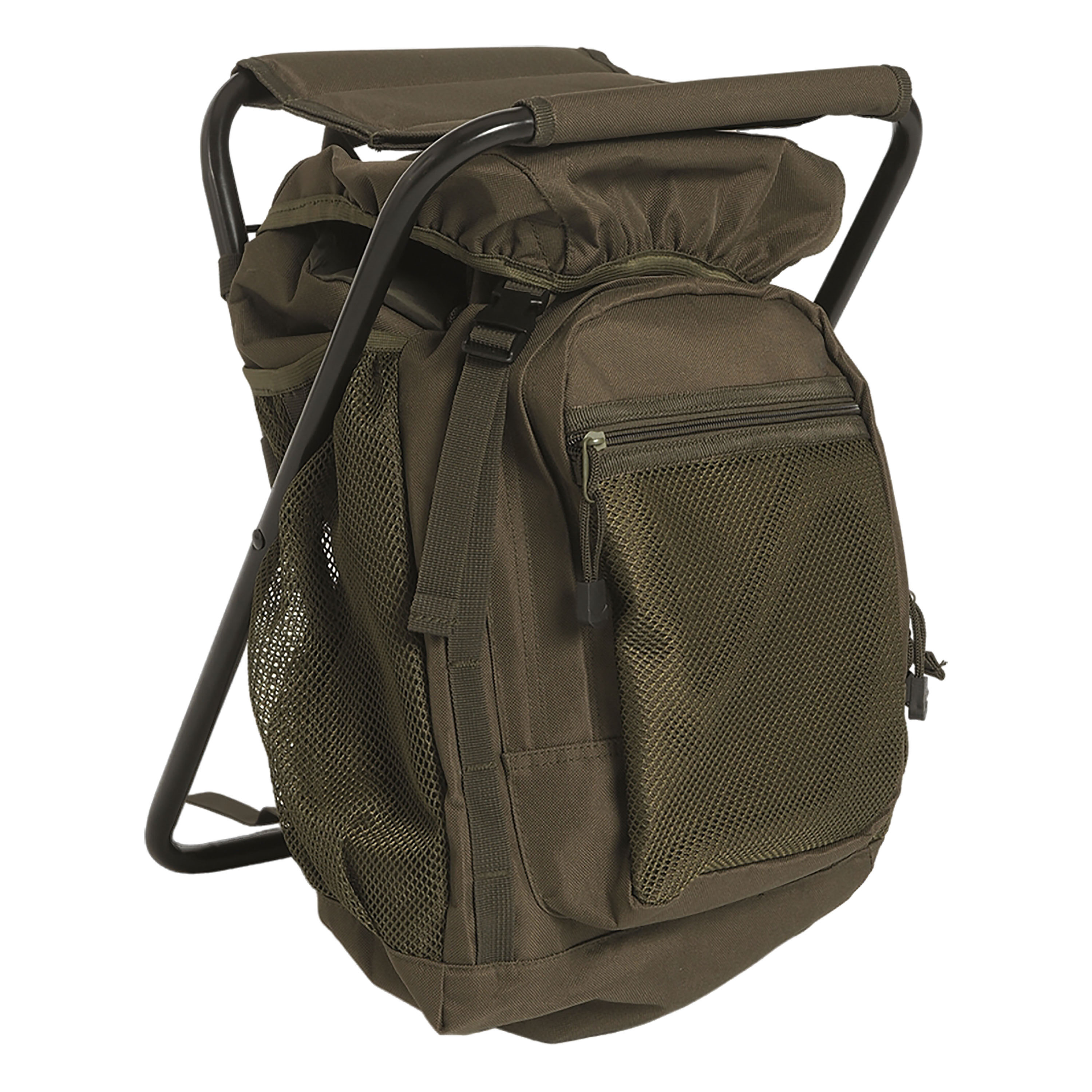 Backpack with Stool olive