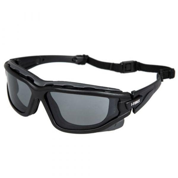 Pyramex Safety Glasses I-Force Gray Antifog Glasses black