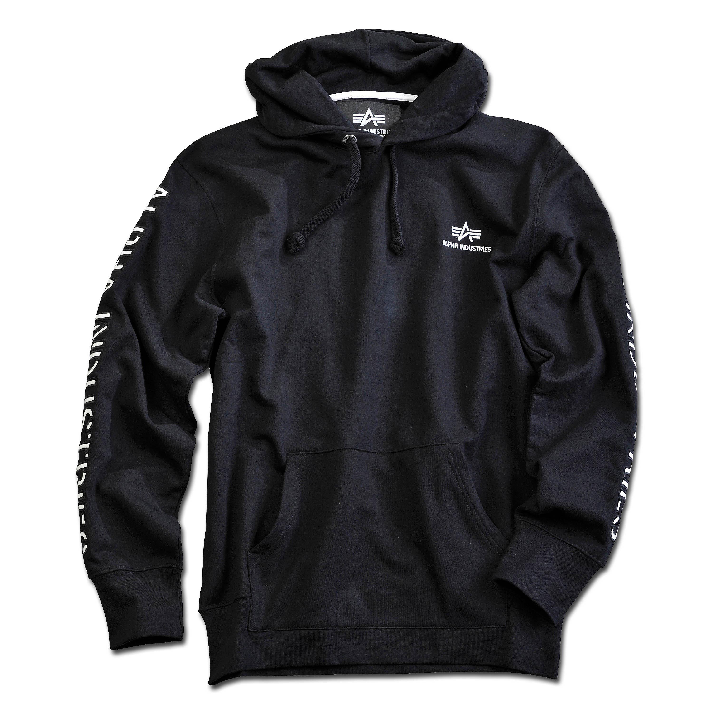 Alpha Industries Sweatshirt Track II Hoody black/white