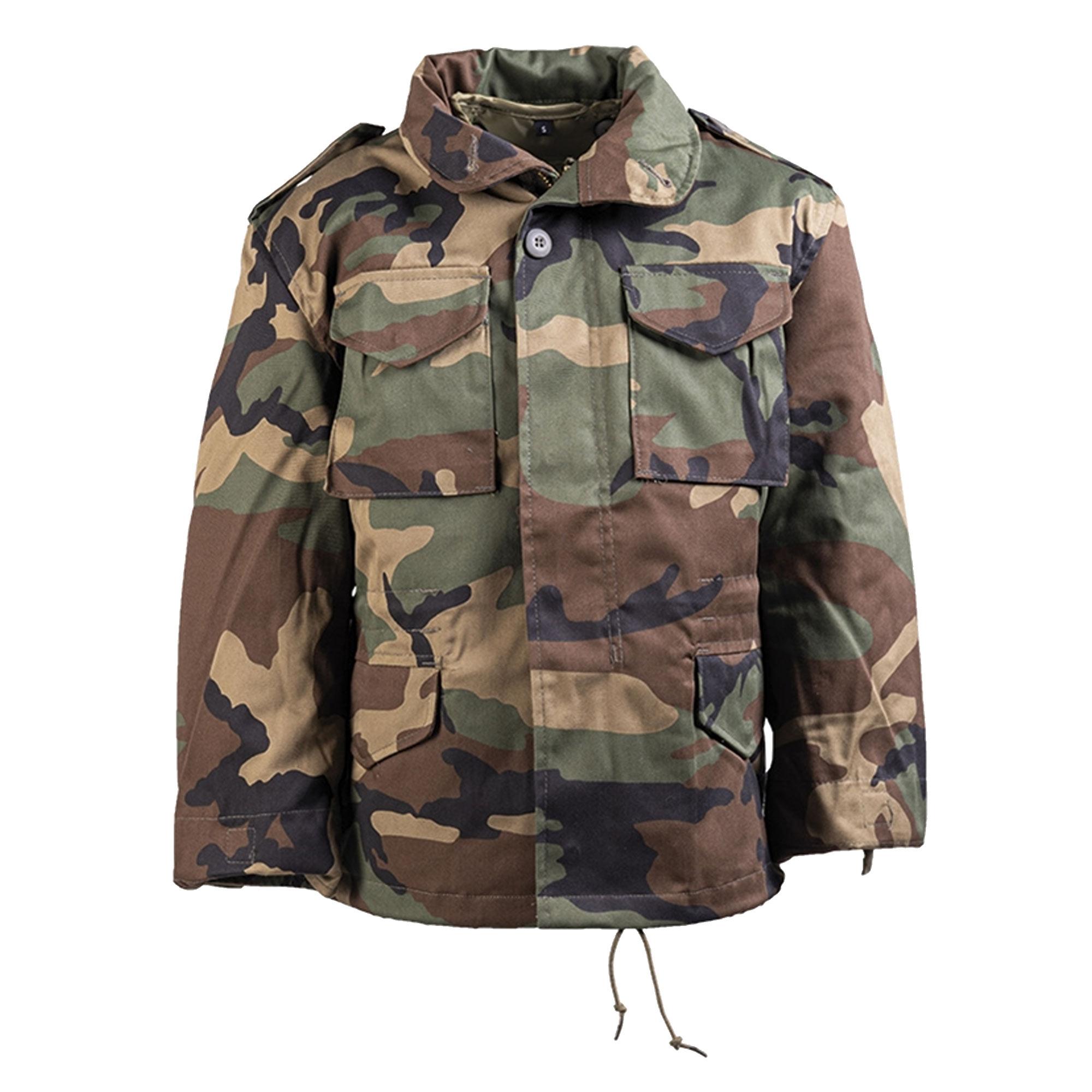 Kids Field Jacket M-65 Style woodland