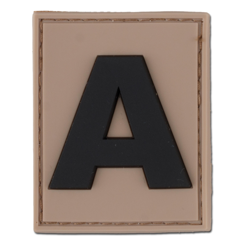 3D ID patch letter A desert