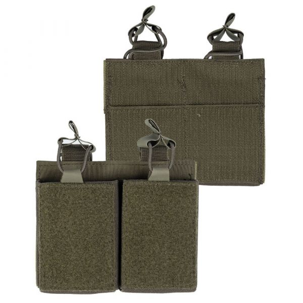 Mil-Tec Double Mag Pouch with Velcro Backing olive