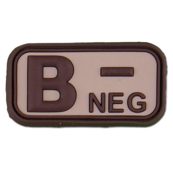 3D Blood Type B Neg desert