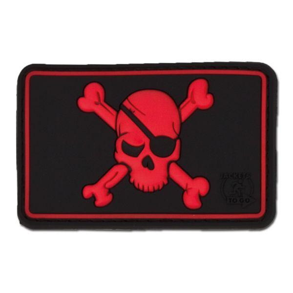 3D-Patch Pirate Skull black medic