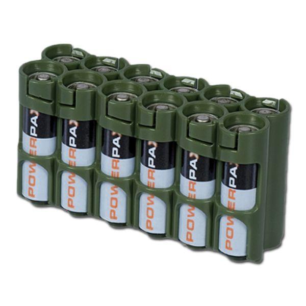 Battery Holder Powerpax 12 x AA olive