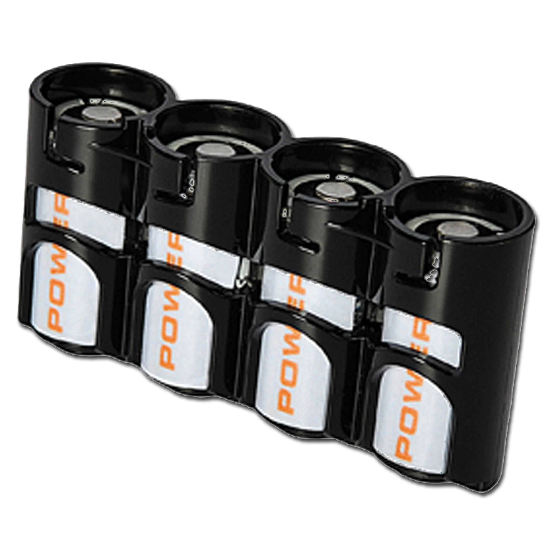 Battery holder Powerpax SlimLine 4 x CR123 black